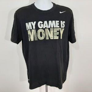 Nike Dri-fit Men's T-shirt Size Large Black QG21